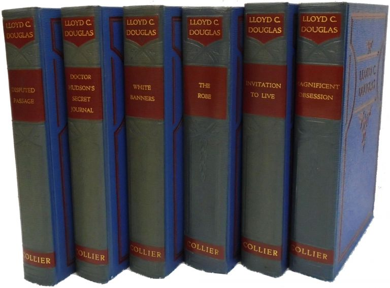Six Volume Set: Doctor Hudson's Secret Journal; Disputed Passage; White Banners; The Robe; Invitation to Live; Magnificent Obsession. Lloyd C. Douglas.