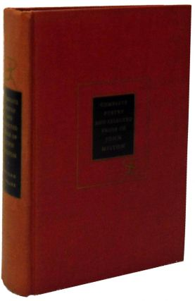 Complete Poetry and Selected Prose of John Milton. John Milton